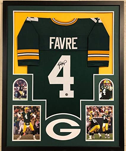 check out 7814f c7f0b FRAMED GREEN BAY PACKERS BRETT FAVRE AUTOGRAPHED SIGNED ...