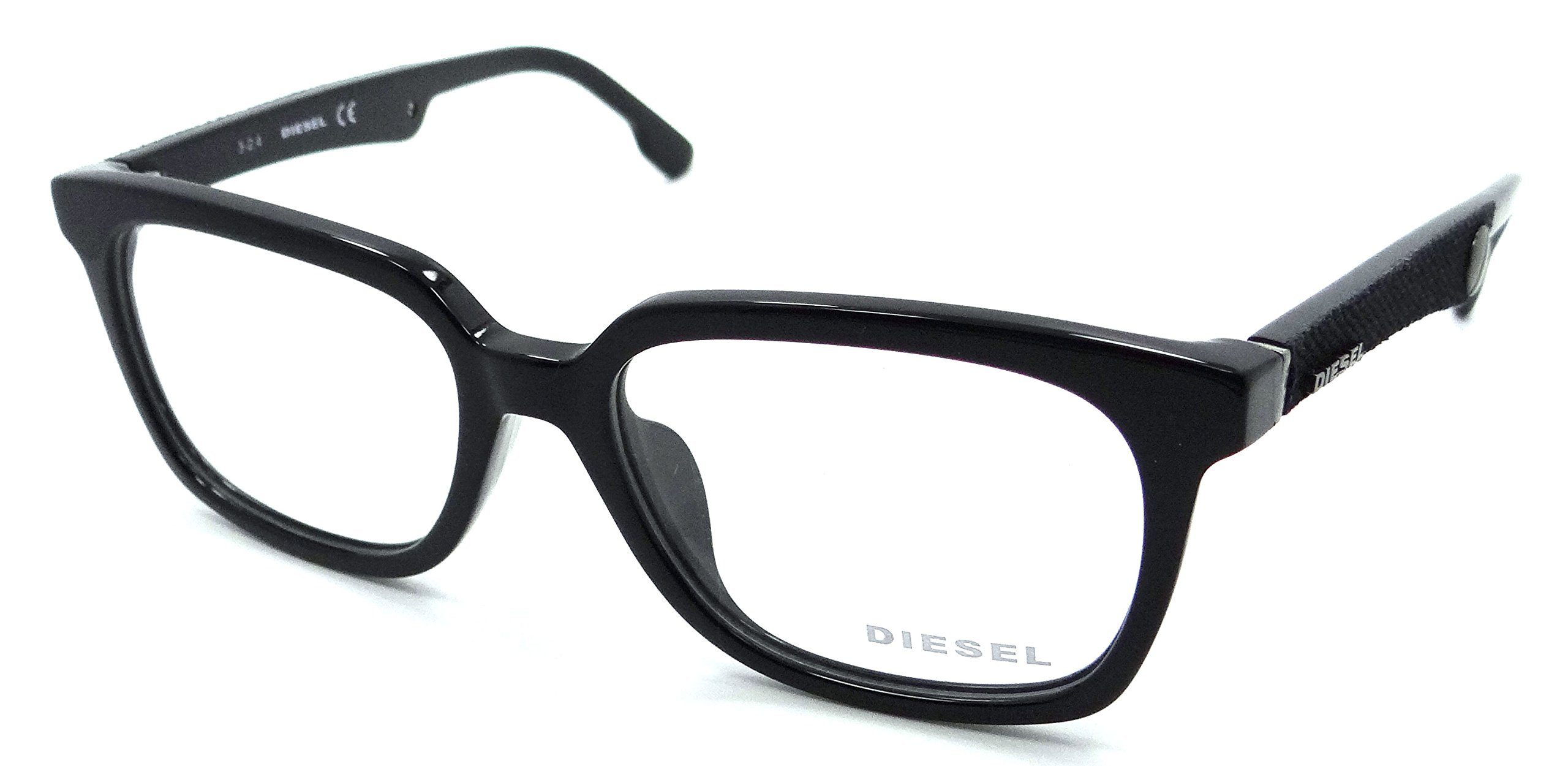 Diesel Rx Eyeglasses Frames DL5143-D 001 54-17-150 Shiny Black Asian Fit