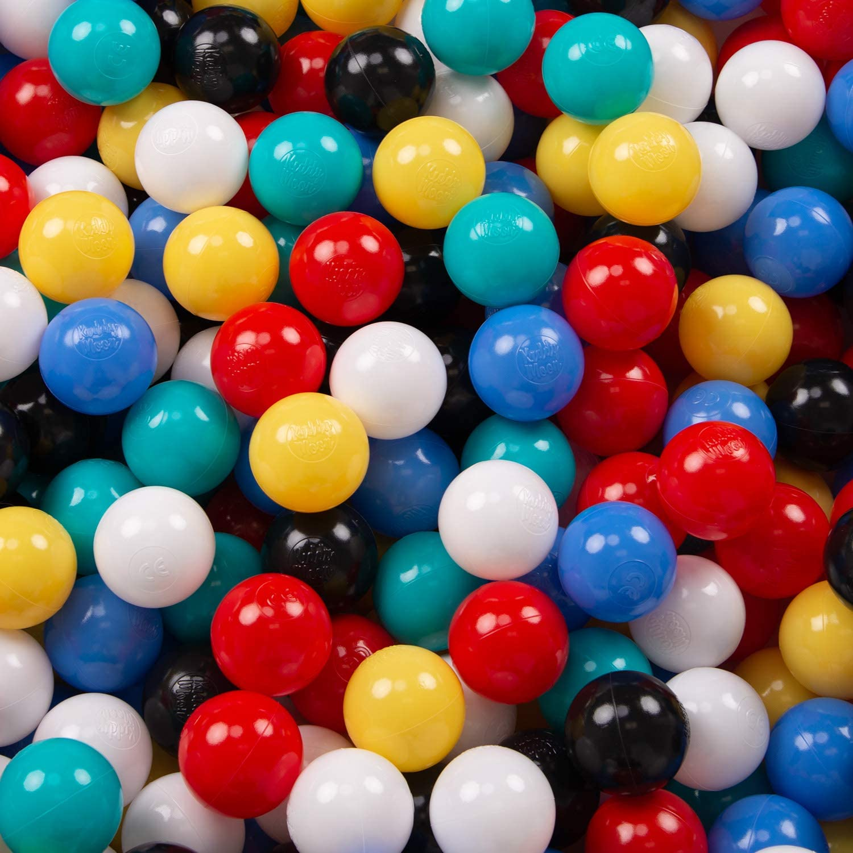 Rosa KiddyMoon 100 6Cm Bolas Colores De Pl/ástico para Piscina Certificadas para Ni/ños