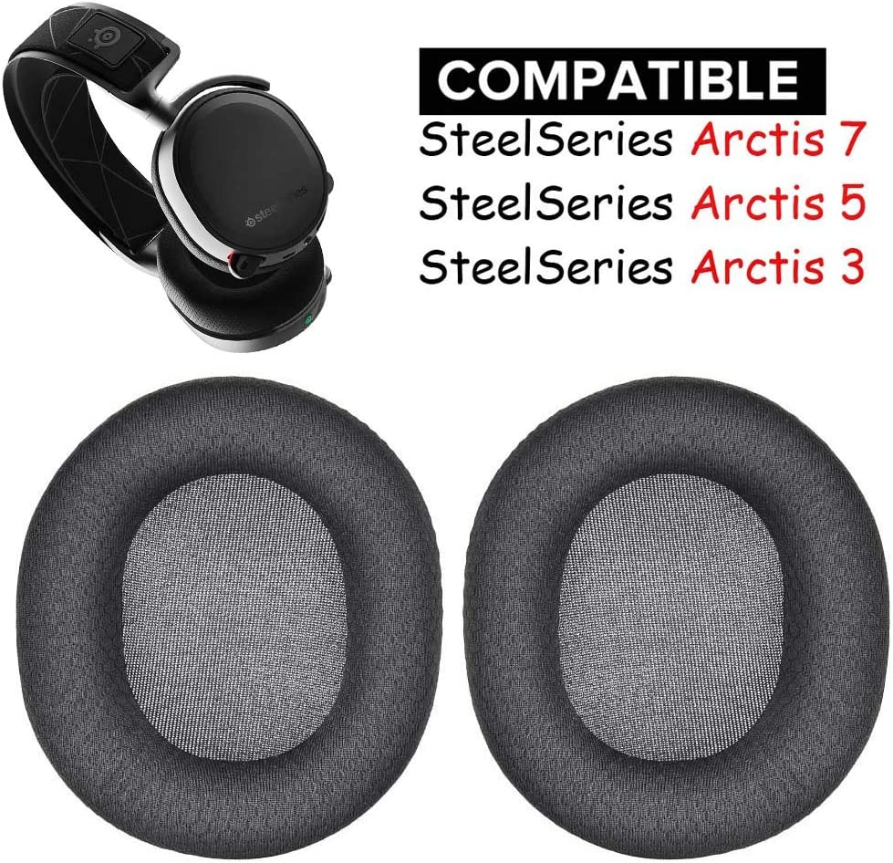 Arctis 7 Earpads Replacement Ear Pads Cushions Muffs Repair Parts Compatible with SteelSeries Arctis 3 5 7 Gaming Headset Headphone.