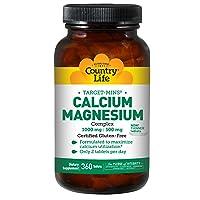 Country Life Target-Mins Calcium Magnesium Complex 1,000mg/500mg Promotes Calcium...
