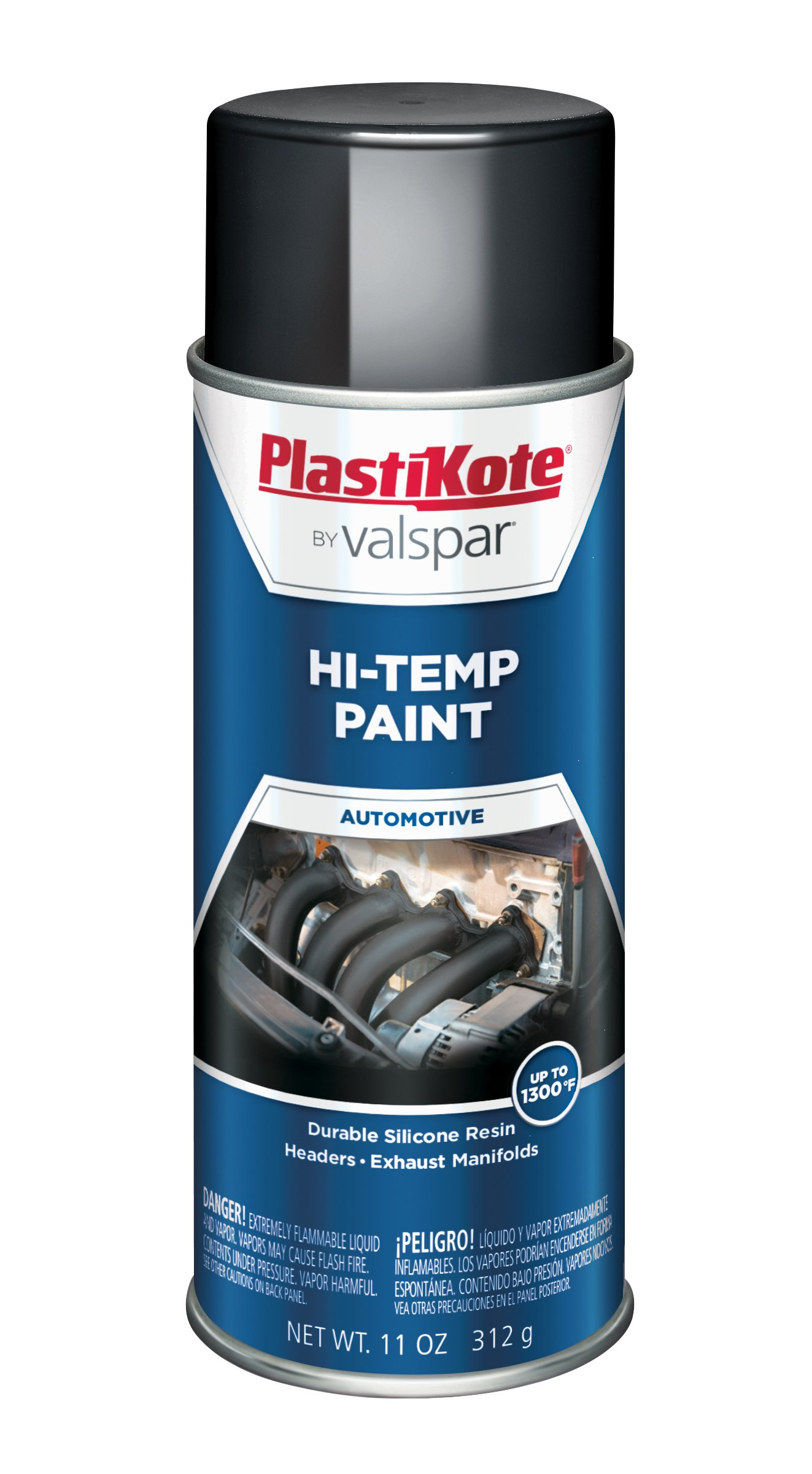 PlastiKote HP-11 Black Hi-Temp Paint - 11 Oz.