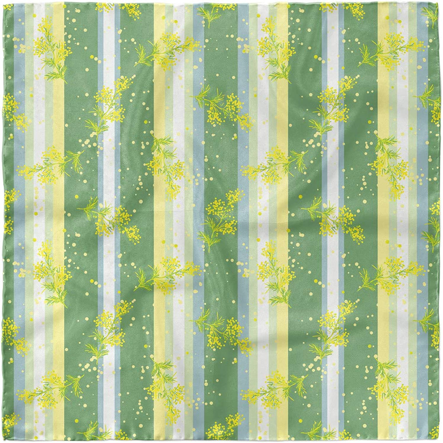 Spring Striped Flowers Hair Wrap Ambesonne Striped Head Scarf