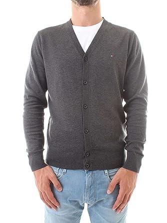 Tommy Hilfiger Herren Strickjacke Cotton Silk Cardigan  Amazon.de   Bekleidung af09eeb3c4