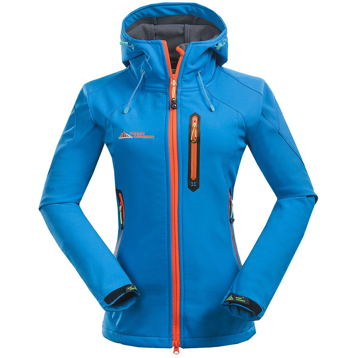 Topway Women's Softshell Water Resistant Windproof Lady Sport Hooded Jacket Coat MC15RK0203W