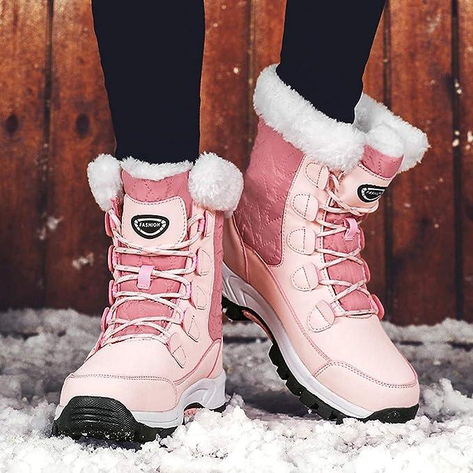Kaister Damen Winterstiefel Wasserdicht Warm gefütterte Schneestiefel Winterschuhe Winter Kurzschaft Stiefel Boots Schuhe