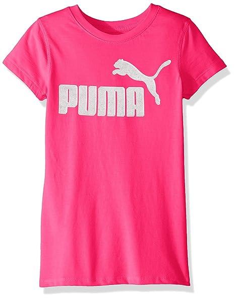 9d8b674d2ed Amazon.com: PUMA Girls' No .1 Logo T-Shirt: Clothing