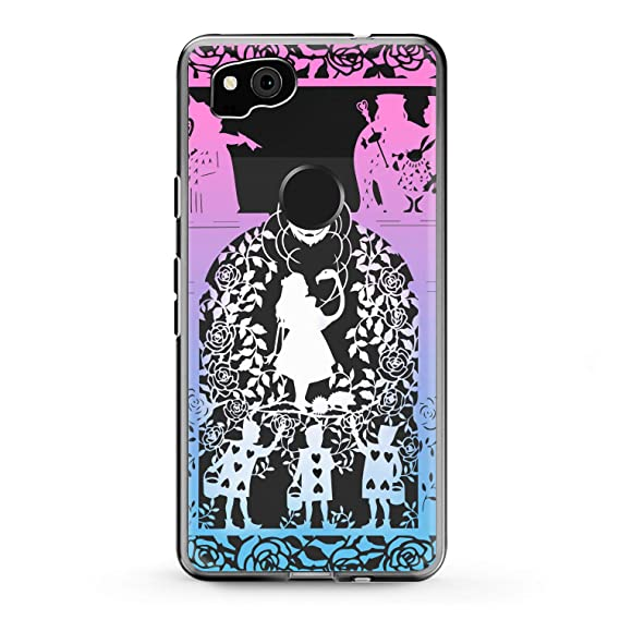 8bfd3e7b739c Lex Altern Google Pixel Case 3 XL 2 Alice Silhouette Clear Cute in  Wonderland Flexible Pink Phone Coverage Blue Transparent Kids Design Soft  Disney ...