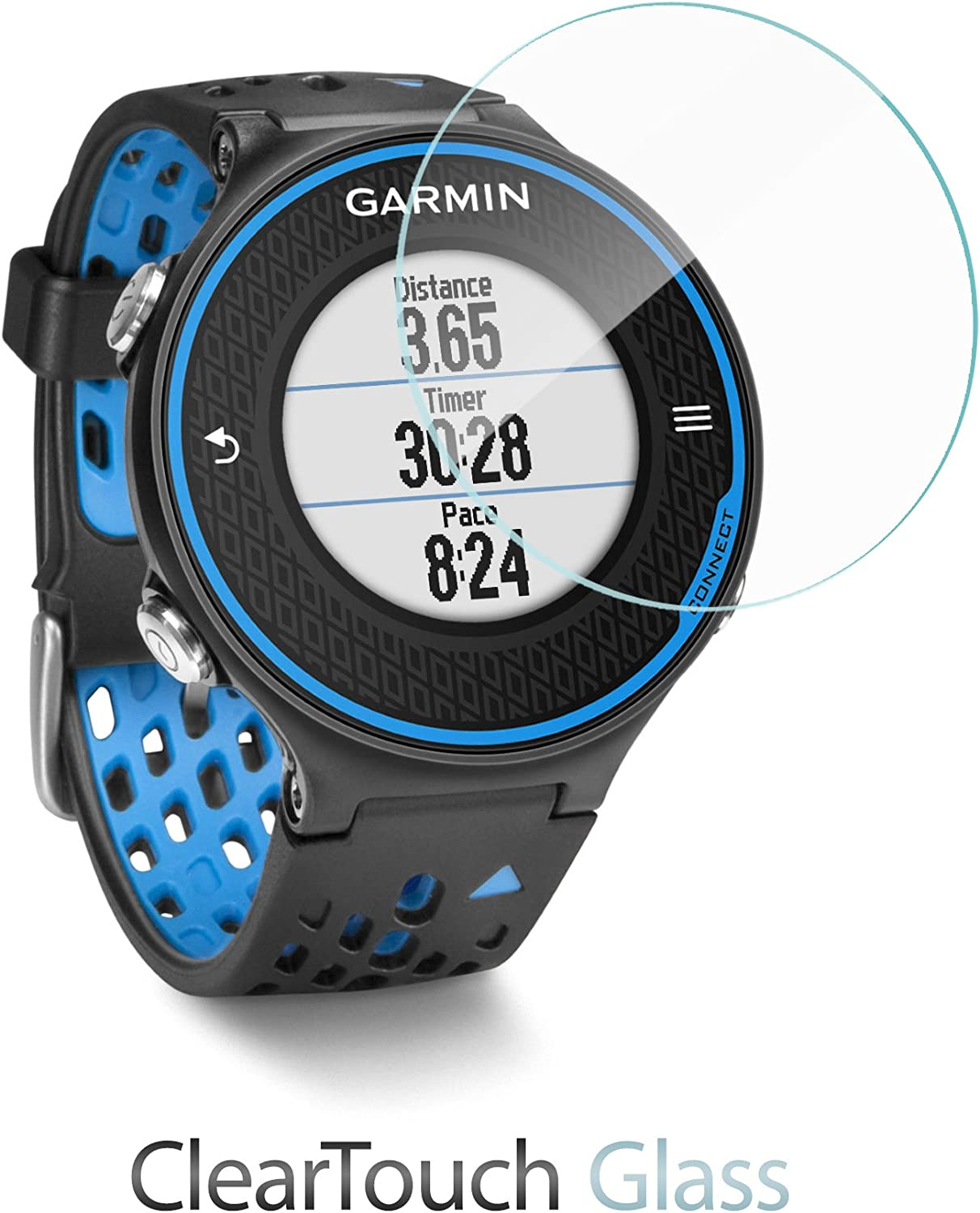 BoxWave/® ClearTouch Glass 9H Tempered Glass Screen Protection for Garmin Forerunner 230 Garmin Forerunner 230 Screen Protector