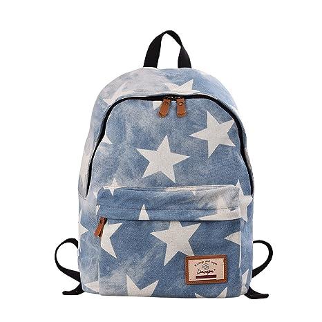 e355f54fd8fe Epokris Teen Girls School Bookbag Rucksack Casual Daypack Floral Backpack  320 White Star  Amazon.in  Toys   Games