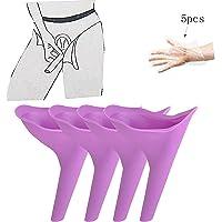 Weibliches Urinierungs-Gerät, Reise-kampierender stehender Pipi im Freien wiederverwendbarer Toiletten-Frauen-Trichter-tragbarer Urin-Urin, (4 PC) Guang-T