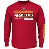 f743e8559ae San Francisco 49ers Majestic NFL Primary Receiver 2 Long Sleeve Men s T- Shirt