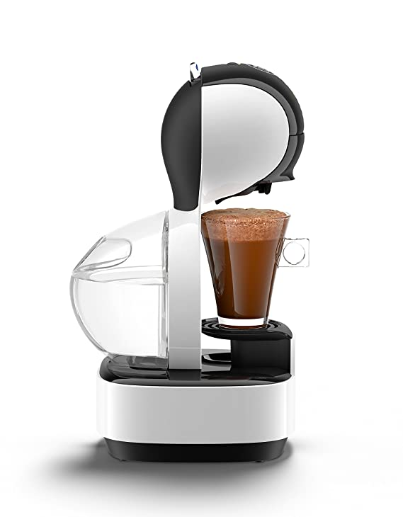 Krups Dolce Gusto Lumio KP1301 - Cafetera de cápsulas, 15 bares de presión, color blanco