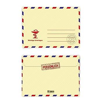 Briefumschläge 20 Stück Din C6 Krankschreibung Briefumschlag