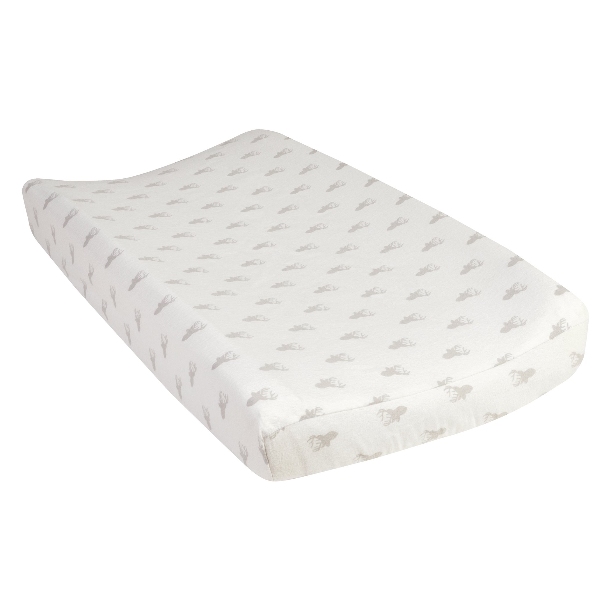 Trend Lab Gray Stag Silhouettes Deluxe Flannel Changing Pad Cover