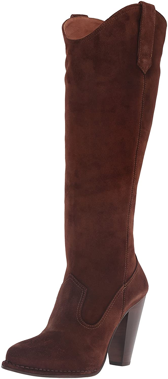 FRYE Women's Madeline Tall Western Boot B01BOWSA4A 7.5 B(M) US|Brown