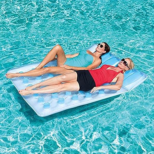 Amazon.com: Inflable flotante alfombrilla tumbona doble 36 ...