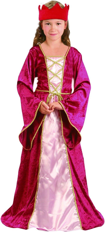 Vegaoo - Disfraz de Reina Medieval para niña - S 4-6 años (110-120 ...