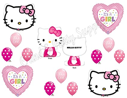 Hello Kitty Mylar Balloon Bouquet Birthday Decoration Party Favors Prizes Supply