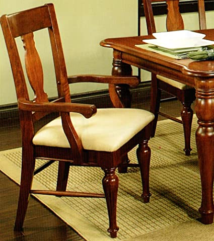 Amanda Home Dining Collection American Heritage Solid Cherry Wood Armed  Chair (Set Of 2)