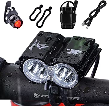 Cree U2 X2  LED MTB Front  Bike Lights Road Bicycle Cycling Headlight Headlamp
