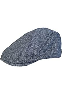 1a15269398d53 Ted Baker Ricepud Blue Linen Herringbone Flat Cap  Amazon.co.uk ...