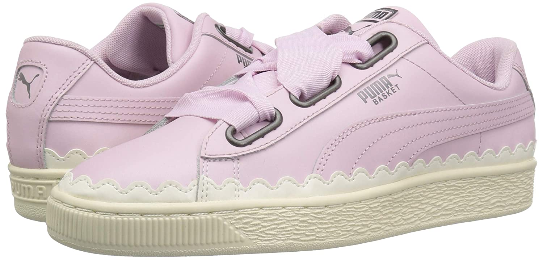 big sale f3b95 b760e PUMA Women's Basket Heart Scallop Sneaker