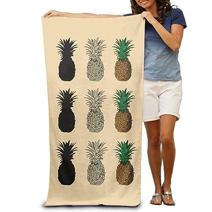 Toallas de baño de limpieza toallas de playa de la piña verano frutas diseño hombres divertido