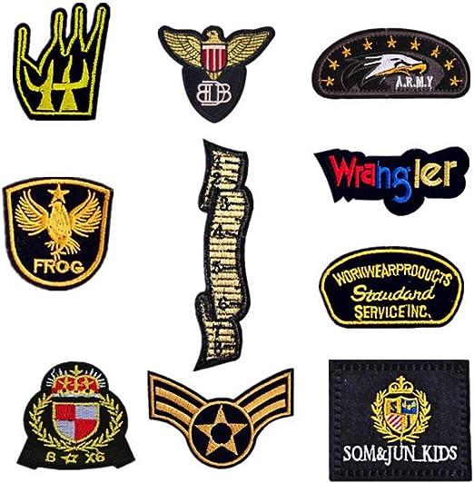 Bella 10pcs Parches Apliques Patche Sticker Parche Termoadhesivo ...