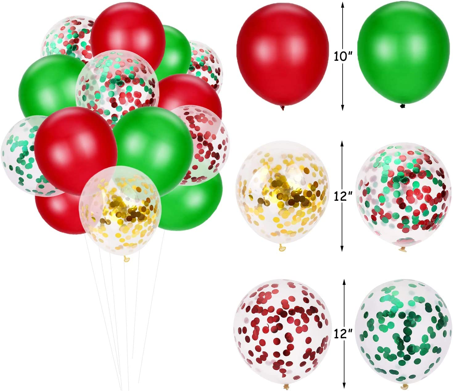 Christmas Birthday Decor Set Merry Birthday Banner Holiday Cake Decoration Snowflake Antler Cupcake Toppers Red and Green Confetti Latex Balloons December Winter Wonderland Party Supplies