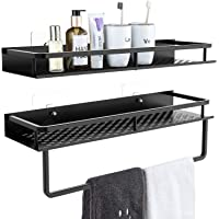 Avaspot Shower Caddy 2-Pack, 15 inches Aluminum Wide Space Shower Shelf with Adhesive, Wall Mounted Storage Organizer…