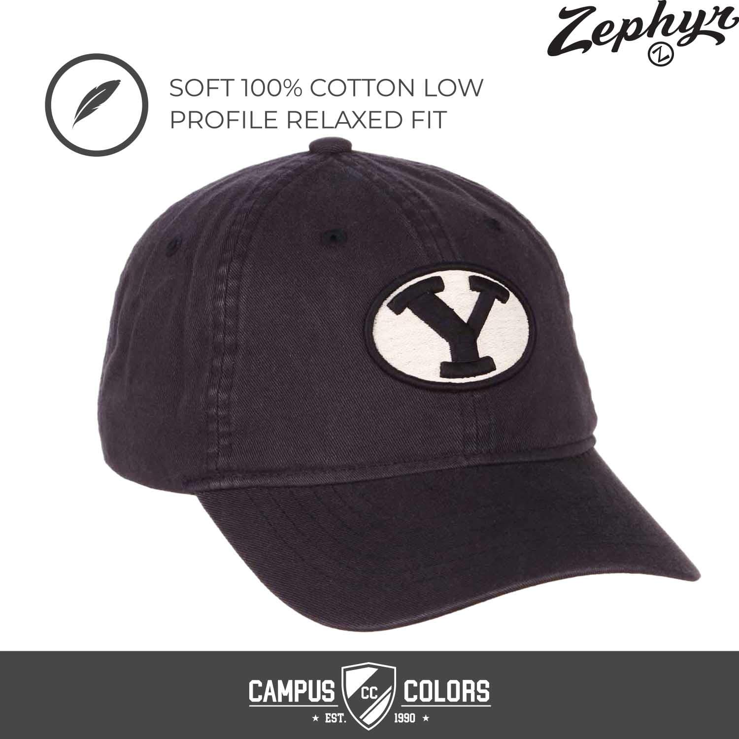 Navy BYU Cougars NCAA Adult Scholarship Relaxed Adjustable Hat