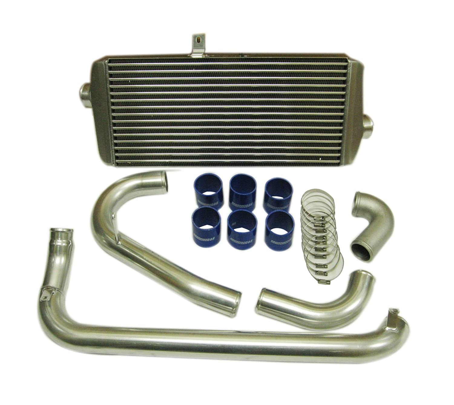 Inlet Outlet 64mm Autobahn88 Universal Front-Mount Intercooler FMIC 2.5 Core Size 550x230x66mm 21.5x9.2x2.6
