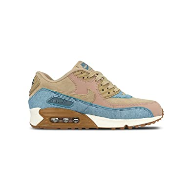 NIKE WMNS AIR MAX 90 LX - SNEAKER DONNA 7.5 USA - 38.5 EU mushroom-smokey blue