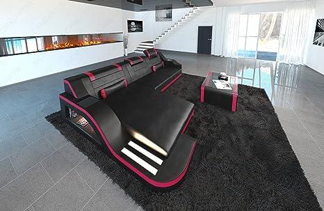 Divano Forma Rosa : Sofa dreams divano in pelle palermo l forma nero rosa: amazon.it