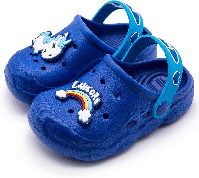 Babelvit Kids Water Clogs Garden Sandals Shoes Slides Slip On Lightweight Beach Slipper for Toddlers Children Boys Girls 9.5 M US Toddler, A-Pink