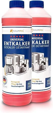 Descalcificador para cafetera 2x 750ml - máquina de café automatica compatible con marcas Delonghi, Jura, Nespresso Dolce Gusto, Senseo: Amazon.es: Hogar
