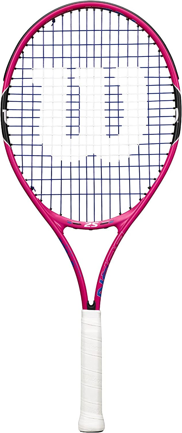 Wilson Junior Burn Pink Tennis Racquet : Sports & Outdoors