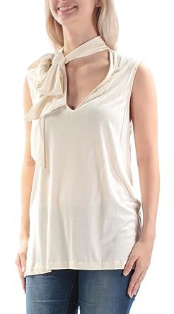 49e23653ecb Ralph Lauren $145 Womens New 1012 Ivory Tie V Neck Sleeveless Top S ...