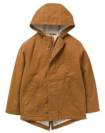 672aa01d0ecf Amazon.com  Crazy 8 Boys  Long Sleeve Sherpa Lined Utility Jacket ...