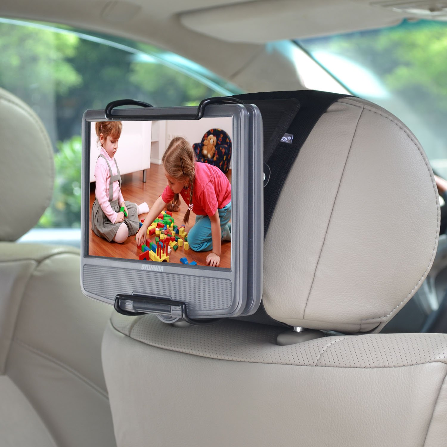 WANPOOL Portable DVD Player Car Headrest Mount with Angle-Adjustable Clamp, for use with Swivel Screen Style Portable DVD Players (DVD Player is not Included) 141[並行輸入] B073TTSMB2