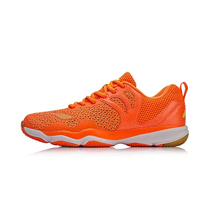 Amazon.com  2018 Li-ning Men Badminton shoes AYTN015-2-Orange ... f299db983