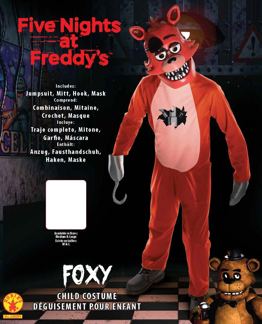 Amazon.com Rubieu0027s Five Nights Childu0027s Value-Priced at Freddyu0027s Foxy Costume Large Toys u0026 Games  sc 1 st  Amazon.com : foxy costume  - Germanpascual.Com