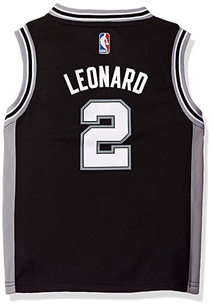 new style 58ac3 62b97 Kawhi Leonard San Antonio Spurs #2 Kids 4-7 Black Road Replica Jersey
