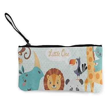 Amazon.com: Monedero de lona con diseño de animales de la ...