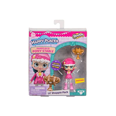 Shopkins Happy Places Lil Shoppie Pack Jessicake - Pampered Pony Stable: Toys & Games
