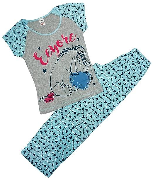 Mujer Winnie the Pooh Eeyore Corazones Camiseta Pijama Tallas Grandes de 8 a 22 - algodón