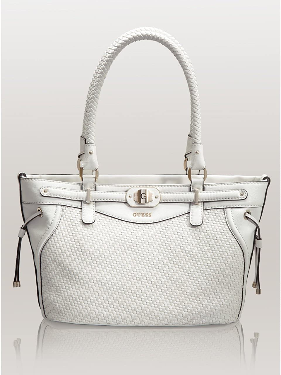 Amazon.com: GUESS Mauritius Small Carryall White: Shoes