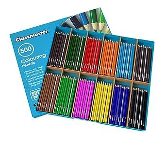 Caja de clase con 500 lápices de colores variados: Amazon.es: Industria, empresas y ciencia