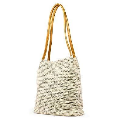f8462e4f42c OCT17 Women Straw Beach Bag tote Shoulder Bag Summer Handbag